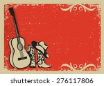 western country music poster... | Shutterstock .eps vector #276117806