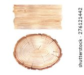 watercolor wood texture banner | Shutterstock .eps vector #276121442