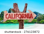 California Wooden Sign With...