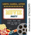 movie birthday party invitation | Shutterstock .eps vector #276126395