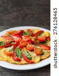 vegetarian pizza with...   Shutterstock . vector #276128465