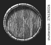 Vector Barrel Drawn On The...