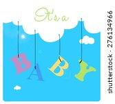 baby shower invitation card ... | Shutterstock .eps vector #276134966