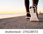 runner man feet running on road ...   Shutterstock . vector #276138572