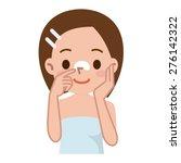 beautiful woman's skin care | Shutterstock .eps vector #276142322