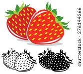 vector strawberry. pair of... | Shutterstock .eps vector #276144266