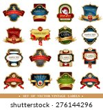 ornamental labels set. easy to... | Shutterstock .eps vector #276144296