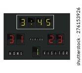 black digital scoreboard with... | Shutterstock .eps vector #276153926