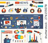 live news infographic set with... | Shutterstock .eps vector #276155078