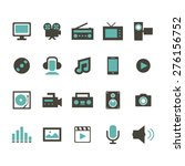 multimedia icon | Shutterstock .eps vector #276156752
