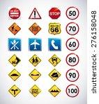 road infographics design ... | Shutterstock .eps vector #276158048