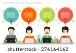 coworking  teamwork  creative... | Shutterstock .eps vector #276164162