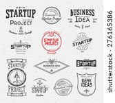 startup project badges logos... | Shutterstock .eps vector #276165386