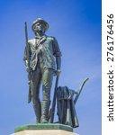 Bronze Statue Of A Minuteman I...
