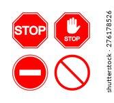 stop sign. vector set | Shutterstock .eps vector #276178526