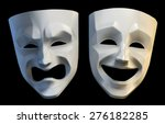 tragicomic theater masks.... | Shutterstock . vector #276182285