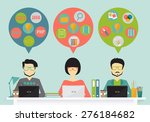 concept of the coworking center ... | Shutterstock .eps vector #276184682