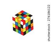cube logo design icon  vector... | Shutterstock .eps vector #276186122