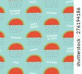 cute vector seamless pattern... | Shutterstock .eps vector #276194186