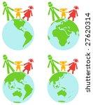 vector family on the world | Shutterstock .eps vector #27620314