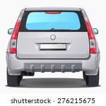 vector silver car   back view | Shutterstock .eps vector #276215675