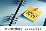 closeup yellow sticky note... | Shutterstock . vector #276217916
