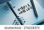 closeup of a personal agenda... | Shutterstock . vector #276218372