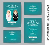set of wedding invitations and... | Shutterstock .eps vector #276231425