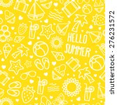 seamless summer pattern... | Shutterstock .eps vector #276231572