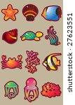 sea world vector set | Shutterstock .eps vector #27623551