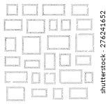 grunge empty blank postage...   Shutterstock .eps vector #276241652