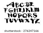 abc alphabet hand drawn... | Shutterstock .eps vector #276247166
