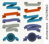 set of colorful ribbons  ... | Shutterstock .eps vector #276258062