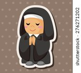 pastor and nun   cartoon... | Shutterstock . vector #276271202