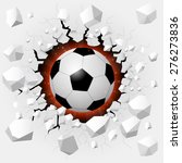 soccer ball with cracked... | Shutterstock .eps vector #276273836