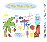 summertime set | Shutterstock .eps vector #276274022