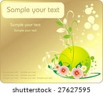 decorative bouquet of flowers.... | Shutterstock .eps vector #27627595