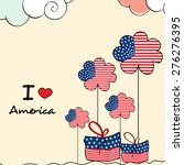 4th of july  american... | Shutterstock .eps vector #276276395