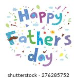 happy father's day card. type... | Shutterstock .eps vector #276285752