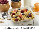 light  delicious breakfast with ... | Shutterstock . vector #276285818
