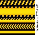 yellow with black police line... | Shutterstock .eps vector #276286022