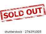 rubber stamp with text sold out ... | Shutterstock .eps vector #276291005