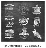 summer beach vector calligraphy ... | Shutterstock .eps vector #276300152