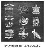 summer beach vector calligraphy ... | Shutterstock .eps vector #276300152