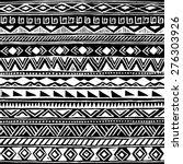 black and white tribal navajo... | Shutterstock .eps vector #276303926