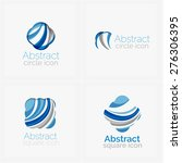 circle abstract shape logo.... | Shutterstock .eps vector #276306395