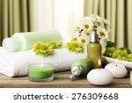 beautiful spa composition on... | Shutterstock . vector #276309668