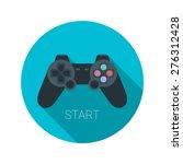 joystick icon flat vector app... | Shutterstock .eps vector #276312428