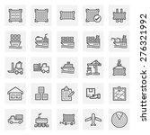 Cargo And Shipping Vector Icon...