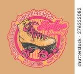 "design t shirt  ""roller derby.... | Shutterstock .eps vector #276322082"